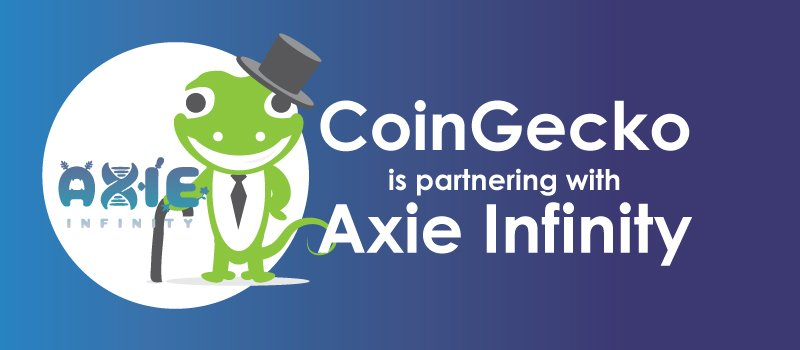 CoinGecko is Partnering with Axie Infinity